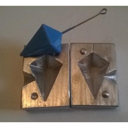 molde para plomos pirámide 130 gr