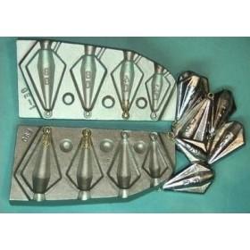 Molde trapezoidal anilla 20-40-60 y 80 gr