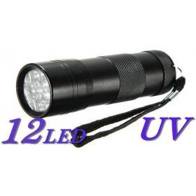 Linterna de luz ultravioleta 12 led